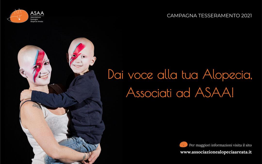 Dai voce alla tua Alopecia. Associati ad ASAA!